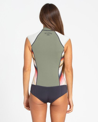 2 1mm Captain Sleeveless Spring Springsuit Green JWSPTBSV Billabong