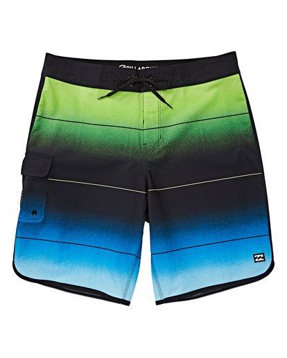 0 Boys' (2-7) 73 Stripe Pro Boardshorts Green K127VBST Billabong