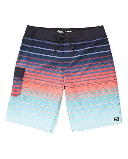 0 Boys' (2-7) All Day Stripe Pro Boardshorts White K133TBAS Billabong