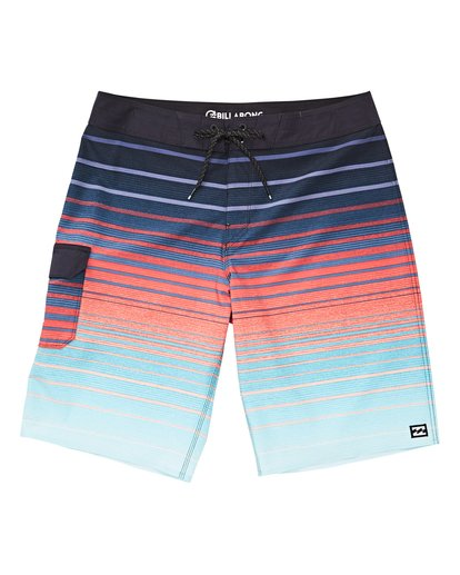 0 Boys' (2-7) All Day Stripe Pro Boardshorts Green K133VBAS Billabong