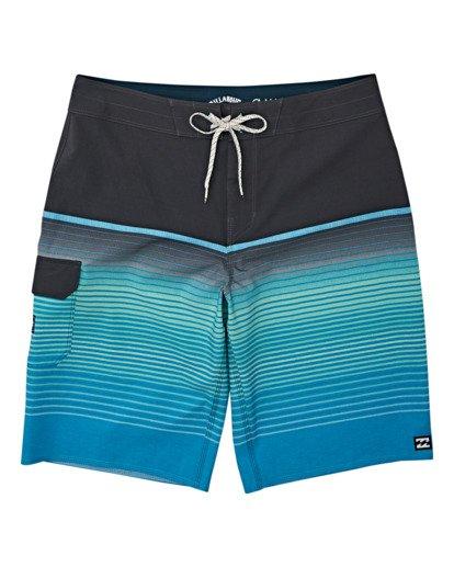 0 Boys' (2-7) All Day Stripe Pro Boardshorts Blue K1341BSP Billabong