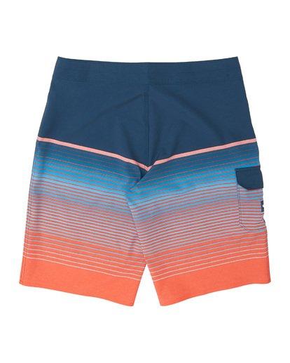 "1 Boys' (2-7) All Day Stripe Pro Boardshorts 14"" Multicolor K1341BSP Billabong"