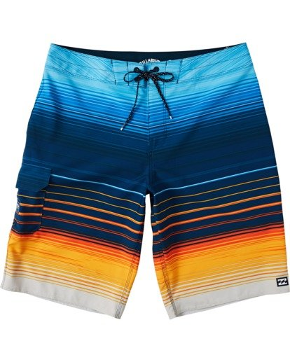 "0 Boys' (2-7) All Day Stripe Pro Boardshorts 14"" Yellow K1341BSP Billabong"