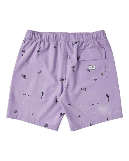 "1 Boys' (2-7) Sundays Layback Boardshort 13"" Purple K1803BSB Billabong"