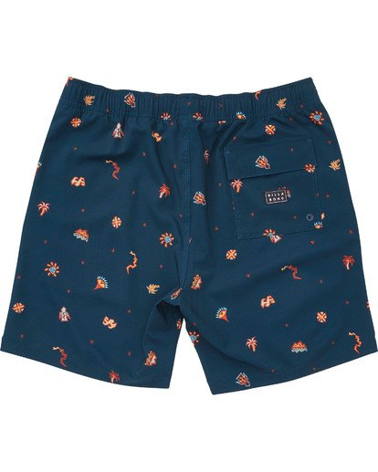 1 Boys' (2-7) Sundays Layback Boardshorts Blue K180TBSU Billabong