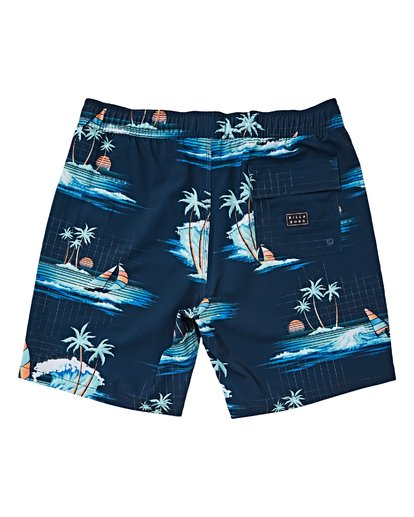 1 Boys' (2-7) Sundays Layback Boardshorts Blue K180VBSU Billabong