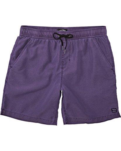 0 Boys' (2-7) All Day Overdye Layback Boardshorts Purple K1821BAB Billabong