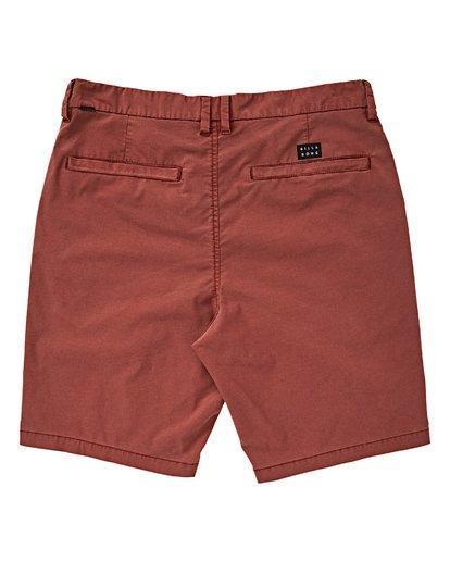 1 Boys' (2-7) New Order X Overdye Shorts Red K207VBNO Billabong