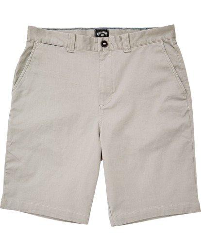 "0 Boys' (2-7) Carter Stretch Walkshort 14"" Grey K2361BCS Billabong"