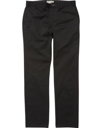 1 Boys' (2-7) Carter Stretch Chino Pants Black K314VBCS Billabong