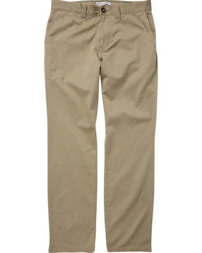 1 Boys' (2-7) Carter Stretch Chino Pants Grey K314VBCS Billabong