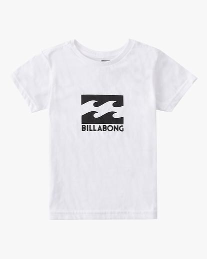 0 Boys' (2-7) Stacked Short Sleeve T-Shirt White K401QSTM Billabong