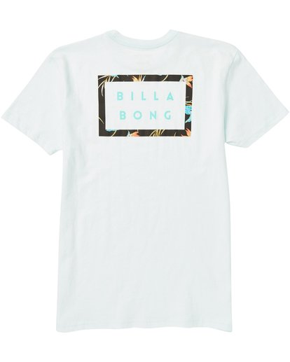1 Kids' Die Cut Border Tee Shirt Blue K401SBDB Billabong