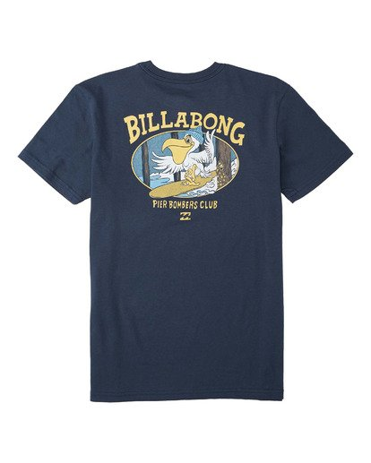 1 Boys' (2-7) Pier Bomber Short Sleeve T-Shirt Blue K4043BPB Billabong