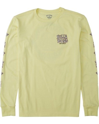 0 Boys' (2-7) Jaws Long Sleeve T-Shirt Yellow K4053BJA Billabong
