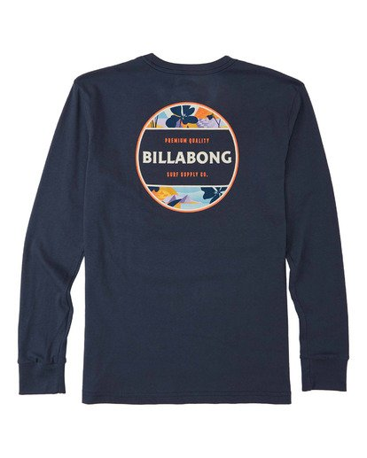 1 Boys' (2-7) Rotor Long Sleeve T-Shirt Blue K4053BRO Billabong