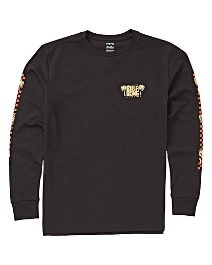 0 Boys' (2-7) Calypso Long Sleeve T-Shirt Black K405VBCA Billabong