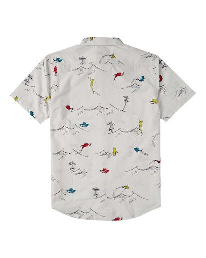 1 Boys' (2-7) One Fish Two Fish Short Sleeve Shirt White K5173BOF Billabong