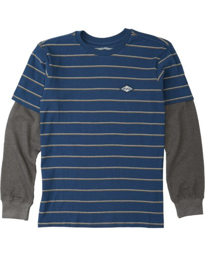 0 Boys' (2-7) Die Cut Twofer Shirt Blue K9053BTW Billabong