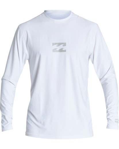 0 Boys' (2-7) All Day Wave Loose Fit Long Sleeve Surf Shirt White KR591BAL Billabong