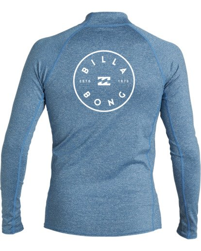 3 Boys' (2-7) Rotor Loose Fit Long Sleeve Rashguard Blue KR593BRO Billabong