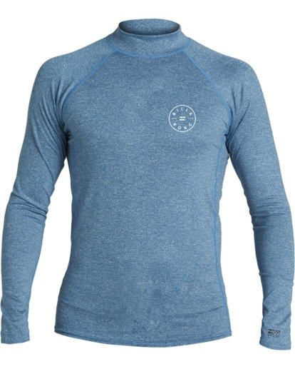 2 Boys' (2-7) Rotor Loose Fit Long Sleeve Rashguard Blue KR593BRO Billabong