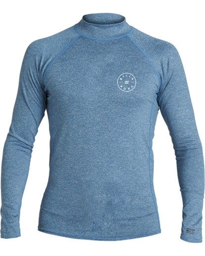 0 Boys' (2-7) Rotor Loose Fit Long Sleeve Rashguard Blue KR593BRO Billabong