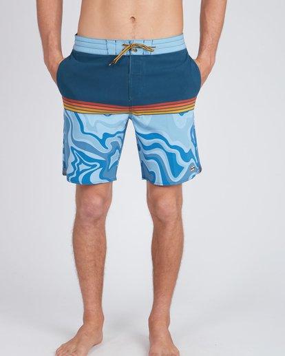6 Fifty50 Lo Tides 18'' Boardshorts Bleu L1BS08BIF8 Billabong