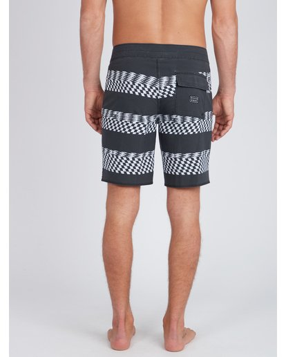 7 Sundays X Stripe 18'' Boardshorts Noir L1BS09BIF8 Billabong