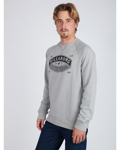 3 Guardiant Crew Sweatshirt Gris L1CR01BIF8 Billabong