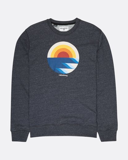 0 Rising Crew Sweatshirt Noir L1CR05BIF8 Billabong