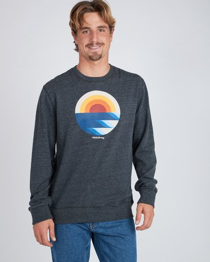 2 Rising Crew Sweatshirt Noir L1CR05BIF8 Billabong
