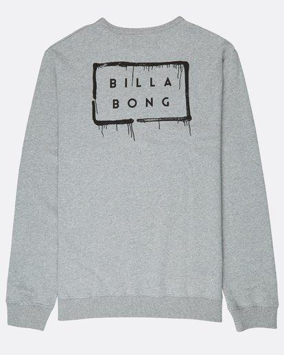 1 Die Cut Theme Crew Sweatshirt Gris L1CR06BIF8 Billabong