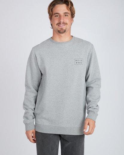 2 Die Cut Theme Crew Sweatshirt Gris L1CR06BIF8 Billabong