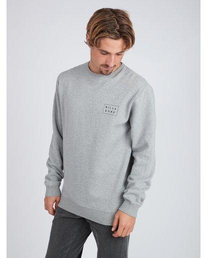 3 Die Cut Theme Crew Sweatshirt Gris L1CR06BIF8 Billabong