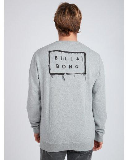 4 Die Cut Theme Crew Sweatshirt Gris L1CR06BIF8 Billabong