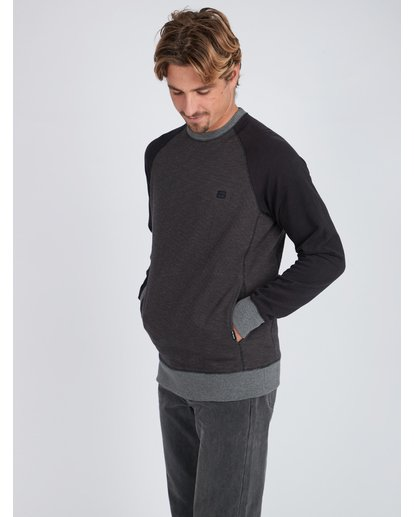 4 Balance Crew Sweatshirt Noir L1FL02BIF8 Billabong