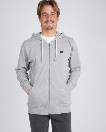 3 All Day Zip Hoodie Gris L1FL15BIF8 Billabong