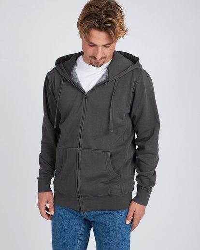 0 Wave Washed Zip Hoodie Noir L1FL18BIF8 Billabong