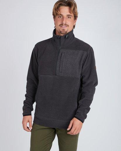 6 Boundary Mock Half Zip Pullover Noir L1FL21BIF8 Billabong