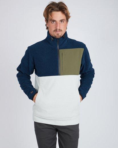 2 Boundary Mock Half Zip Pullover Azul L1FL21BIF8 Billabong