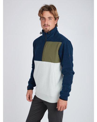 3 Boundary Mock Half Zip Pullover Azul L1FL21BIF8 Billabong