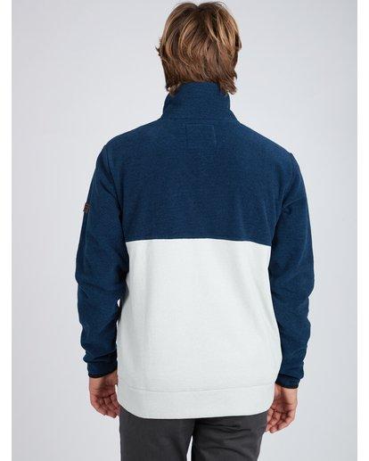 4 Boundary Mock Half Zip Pullover Azul L1FL21BIF8 Billabong