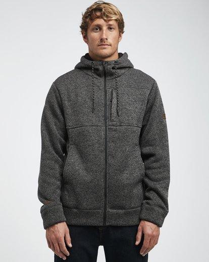 12 Boundary - Sherpa Zip Hoodie for Men Black L1FL23BIF8 Billabong