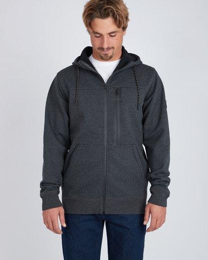 6 Quadrant Polar Fleece Dwr Zip Hoodie Noir L1FL24BIF8 Billabong