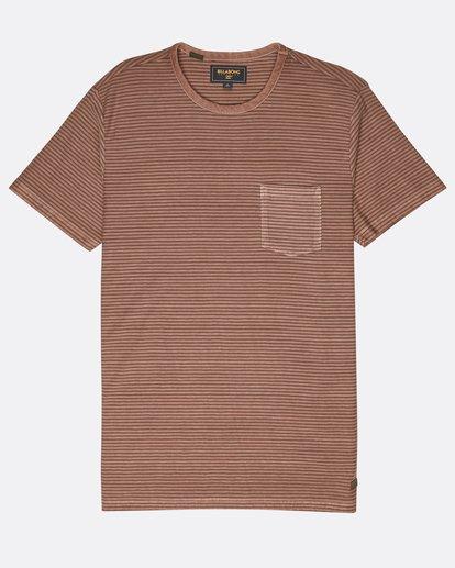 0 Stringer Yarn Dye Stripe T-Shirt Verde L1JE01BIF8 Billabong