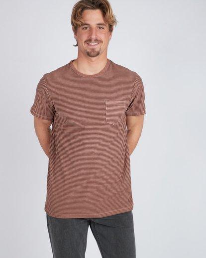 4 Stringer Yarn Dye Stripe T-Shirt Green L1JE01BIF8 Billabong