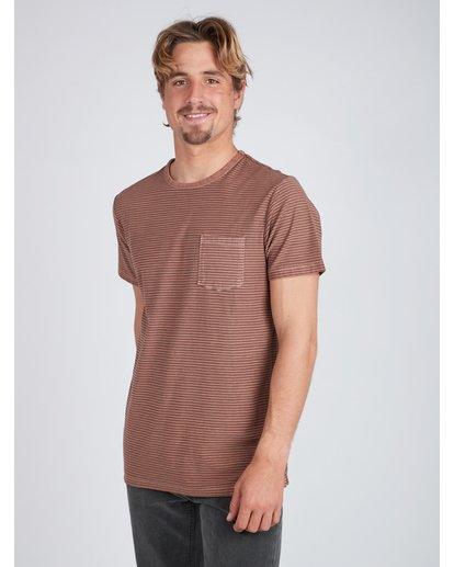 5 Stringer Yarn Dye Stripe T-Shirt Verde L1JE01BIF8 Billabong