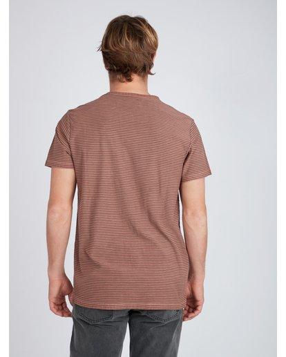 6 Stringer Yarn Dye Stripe T-Shirt Green L1JE01BIF8 Billabong