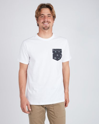 1 All Day Printed Pocket T-Shirt Blanc L1JE02BIF8 Billabong